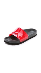 United Nude Lo Res Earth Slide Sandals High Red