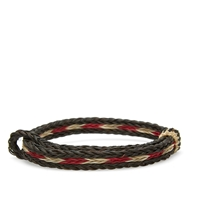 Chamula Braided Horsehair Bracelet Black White And Red
