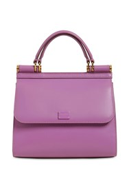Dolce And Gabbana Sicily 58 Small Leather Top Handle Bag Lavanda