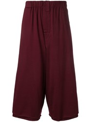 Marni Oversized Baggy Shorts Red