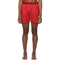 Stella Mccartney Red Medium Length Swim Shorts