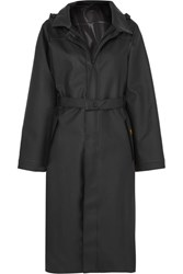 Paco Rabanne Guy Cotten Pvc Blend Trench Coat Black