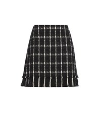 Tory Burch Marisol Cotton Blend Skirt Black