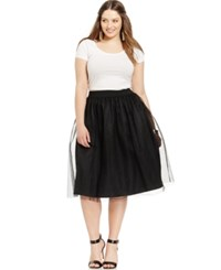 Soprano Plus Size Tulle Party Skirt Black