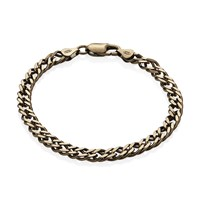 Think Positive By Antonio Marsocci Silver Chocolate Bracelet Gold
