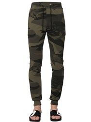 Hydrogen Camouflage Stretch Cotton Sweatpants
