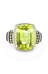 Women's Lagos 'Caviar Color' Large Semiprecious Stone Ring Green Quartz