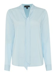 Episode Long Sleeve Shirt With Bow Neck Blue