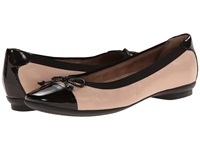 Clarks Candra Glow Nude Leather Women's Dress Flat Shoes Pink