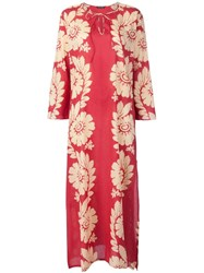 Sophie Theallet Long Floral Print Kaftan Dress Red