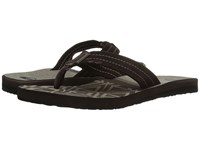 Quiksilver Carver Suede Art Brown Black Brown Men's Sandals