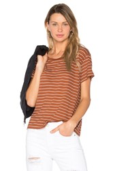 Vince Classic Stripe Tee Brown