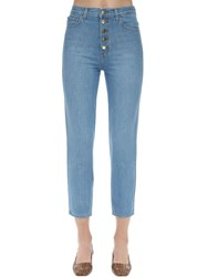 J Brand Heather High Rise Cotton Denim Jeans Blue
