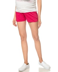 Motherhood Maternity French Terry Shorts Raspberry