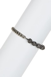 Lucky Brand Pave Ball And Link Bracelet Gray
