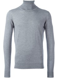 Emporio Armani Melange Turtleneck Jumper Grey