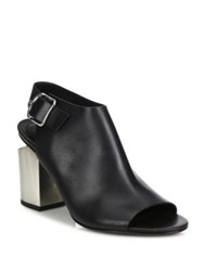 Alexander Wang Nadia Metal Tilt Heel Leather Slingback Open Toe Booties