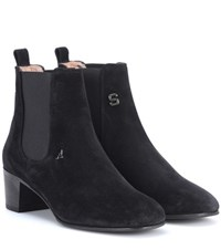 Acne Studios Hely Suede Ankle Boots Black