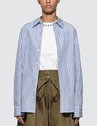 Martine Rose Classic Stripes Shirt Blue