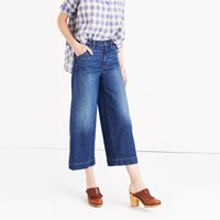 Madewell Wide Leg Crop Jeans In Colvin Wash