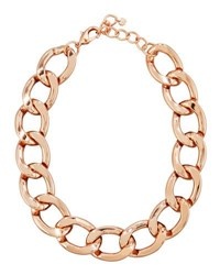 Lydell Nyc Statement Chain Link Necklace Pink Gold