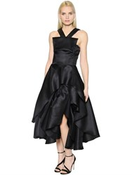 Maticevski Ruffled And Layered Flared Mesh Dress