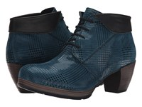 Wolky Jacquerie Petrol Dessin Mighty Women's Lace Up Boots Blue