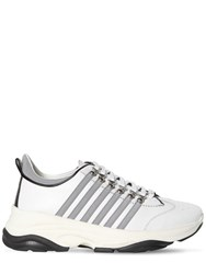 Dsquared 60Mm Mixed Leather Low Top Sneakers White
