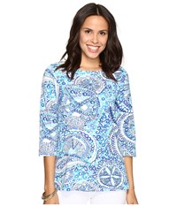 Lilly Pulitzer Waverly Top Resort White Midnight Blues Women's Clothing