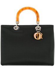 Christian Dior Vintage Lady Canage 32 Tote Black