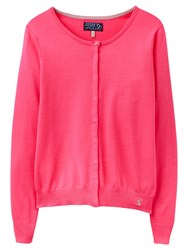 Joules Faith Button Through Cardigan Neon Candy