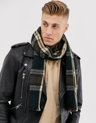 New Look Scarf In Camel Check Brown