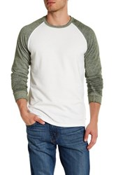 Threads For Thought Crew Neck Raglan Sleeve Burnout Tee Green