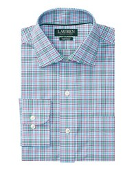 Lauren Ralph Lauren Classic Fit Plaid Warren Dress Shirt Trinidad Blue