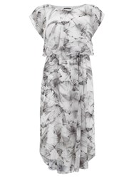 Mint Velvet Nicolette Print Midi Dress Multi