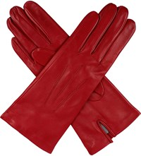 Dents Classic Silk Lined Leather Gloves Berry