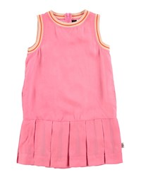 Molo Sleeveless Tipped Pleated Dress Carnation Pink