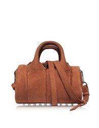 Alexander Wang Handbags Mini Rockie Terracotta Pebbled Nubuck Satchel Bag