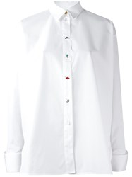 Paul Smith Button Detail Oversized Shirt White