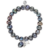 Dower And Hall Silver Peacock Pearl Cluster Bracelet N A N A