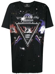 Balmain Graphic T Shirt Black
