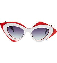 Prabal Gurung Mask Sunglasses Red And White