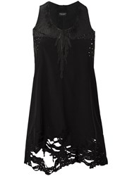 Marcelo Burlon County Of Milan Embroidered Tank Black