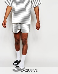 Reclaimed Vintage Striped Shorts White