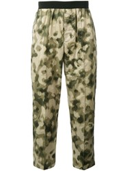 Emiliano Rinaldi Camouflage Cropped Trousers Men Cotton Polyurethane 48 Green