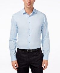 Alfani Men's Fitted Performance Solid Dress Shirt Only At Macy's Light Blue