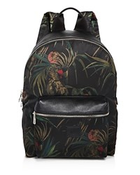 Paul Smith Floral Print Backpack Black