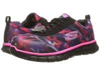 Skechers Synergy Arrey Black Multi Colored Mesh Kpu Trim Women's Shoes