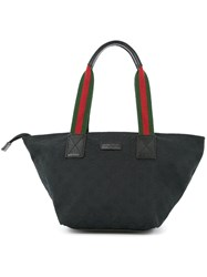 Gucci Vintage Gg Shelly Tote Bag Black