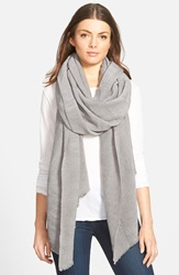 Halogen Oversize Pleated Wrap Grey Frost